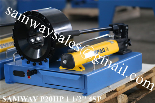 Finnpower P20HP 1 1/2'' 4SP Portable hose crimping machine